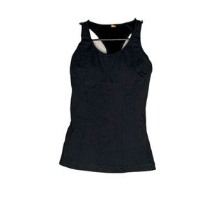 Black Lucy workout tank top size small racerback